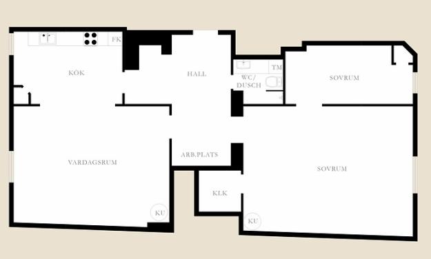 Планировка трёхкомнатной квартиры