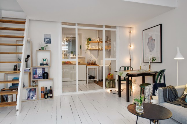 Квартира-студия в скандинвском стиле
