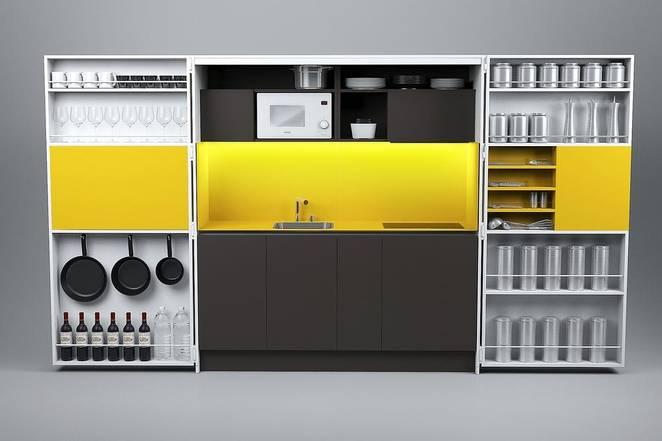 Складная кухня в доме от Dizzconcept
