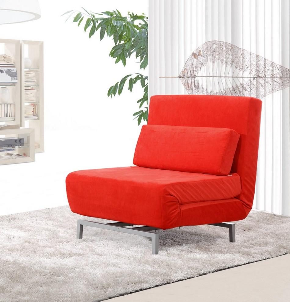 Ярко-красный диван