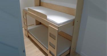 Двухьярусная кровать трансформер