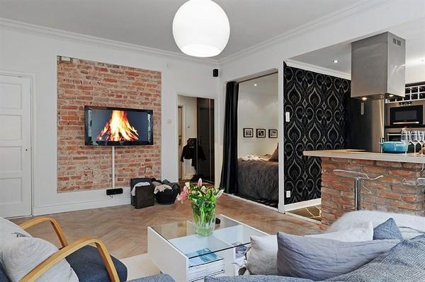 Стильная квартира-студия со спальней