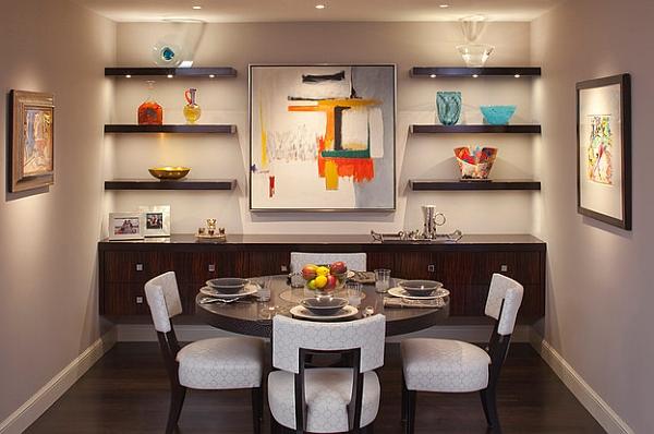 Красочный дизайн в столовой