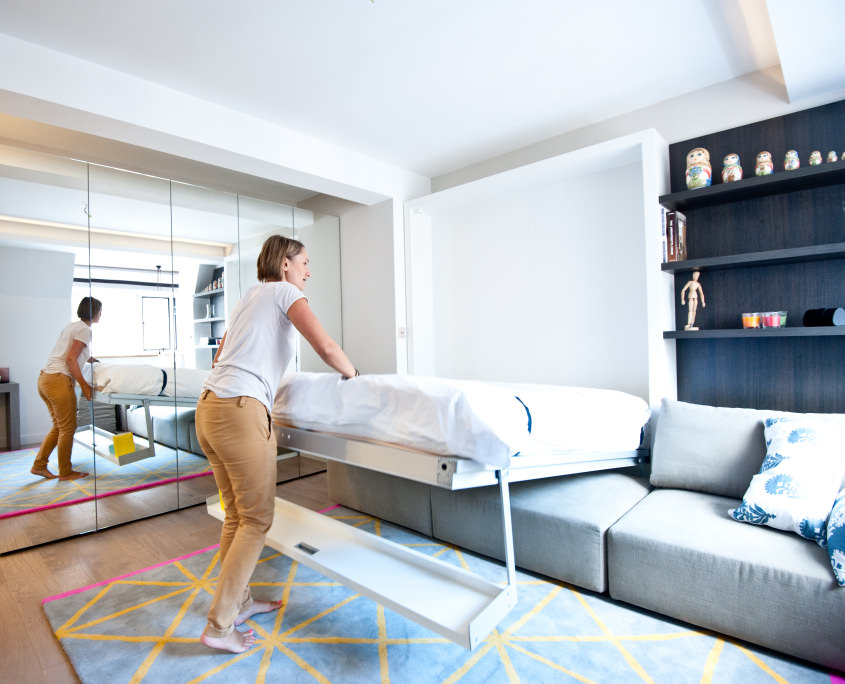 Раскладная кровать для небольшой комнаты