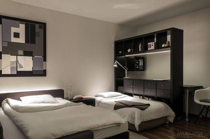 Спальня в небольшой квартире-студии