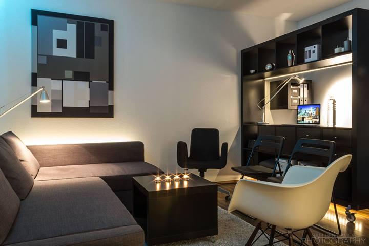 Гостиная небольшой квартиры-студии