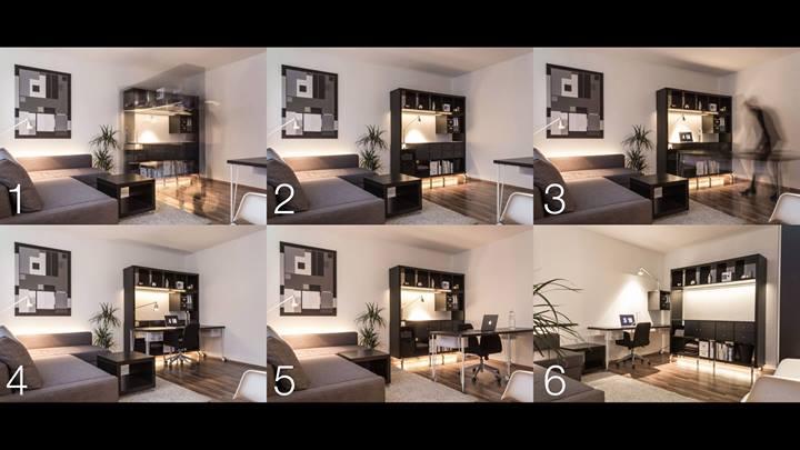 Трансформируемая мебель небольшой квартиры-студии
