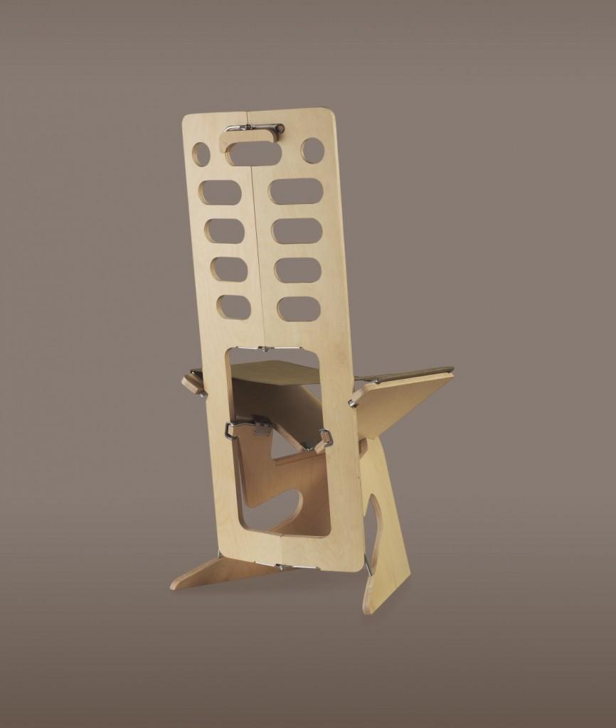 Раскладной стул с высокой спинкой