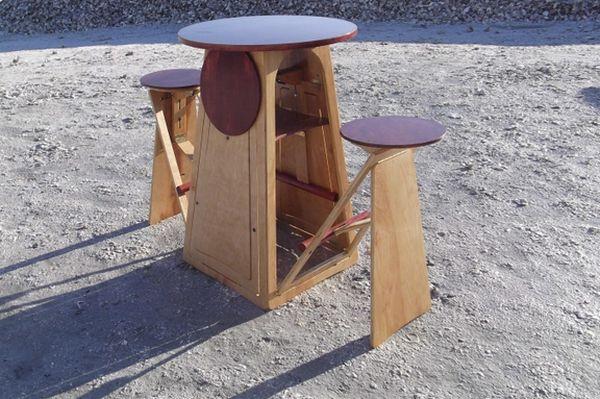Модульный раскладной стол с сидениями