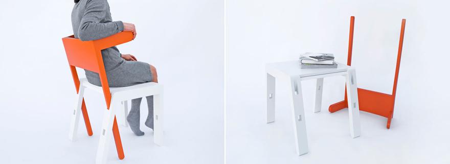 Яркое раскладное кресло
