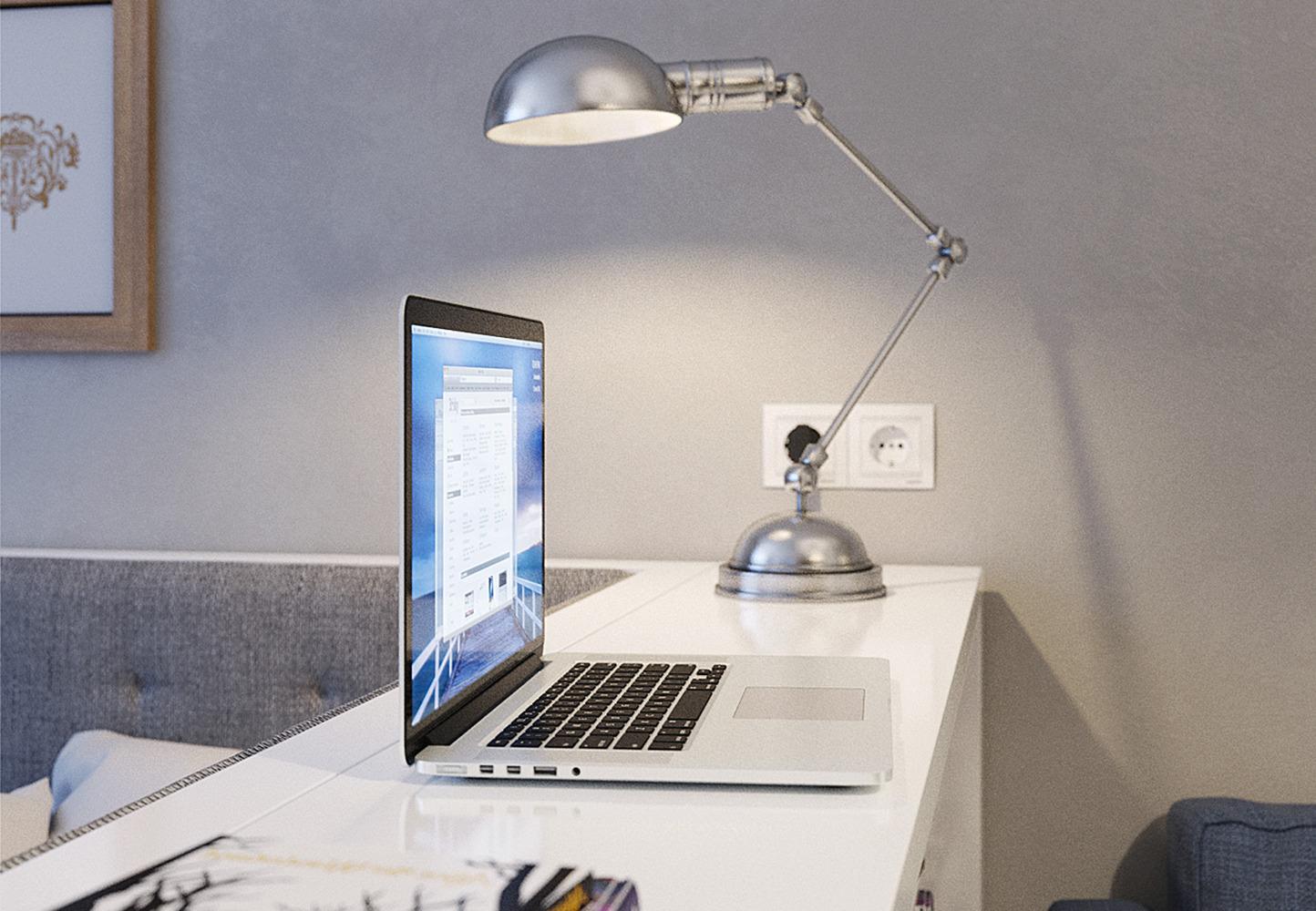 Настольная лампа для освещения рабочей зоны