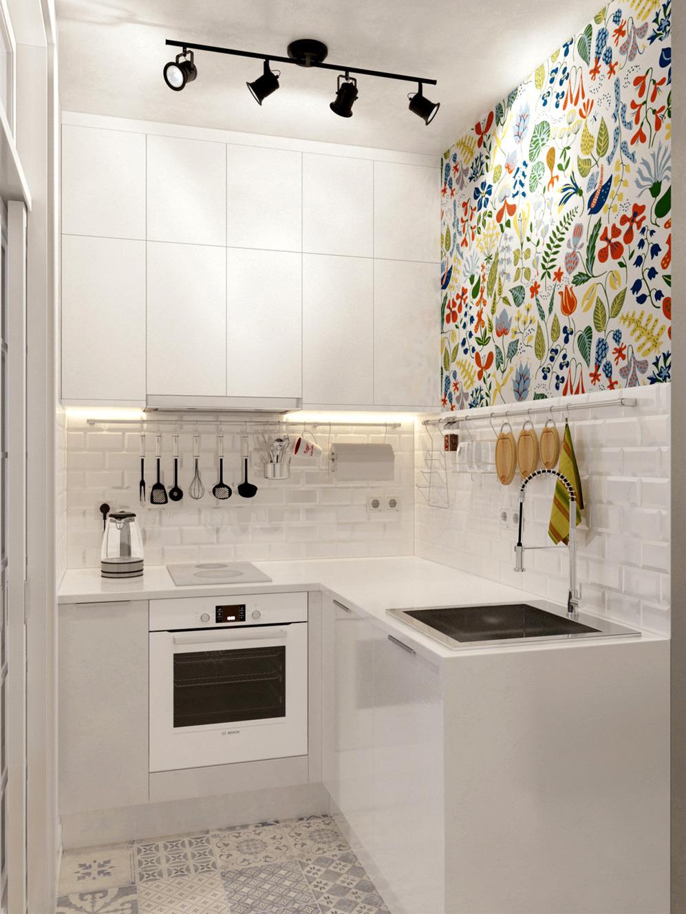 Организация кухни в квартире-студии