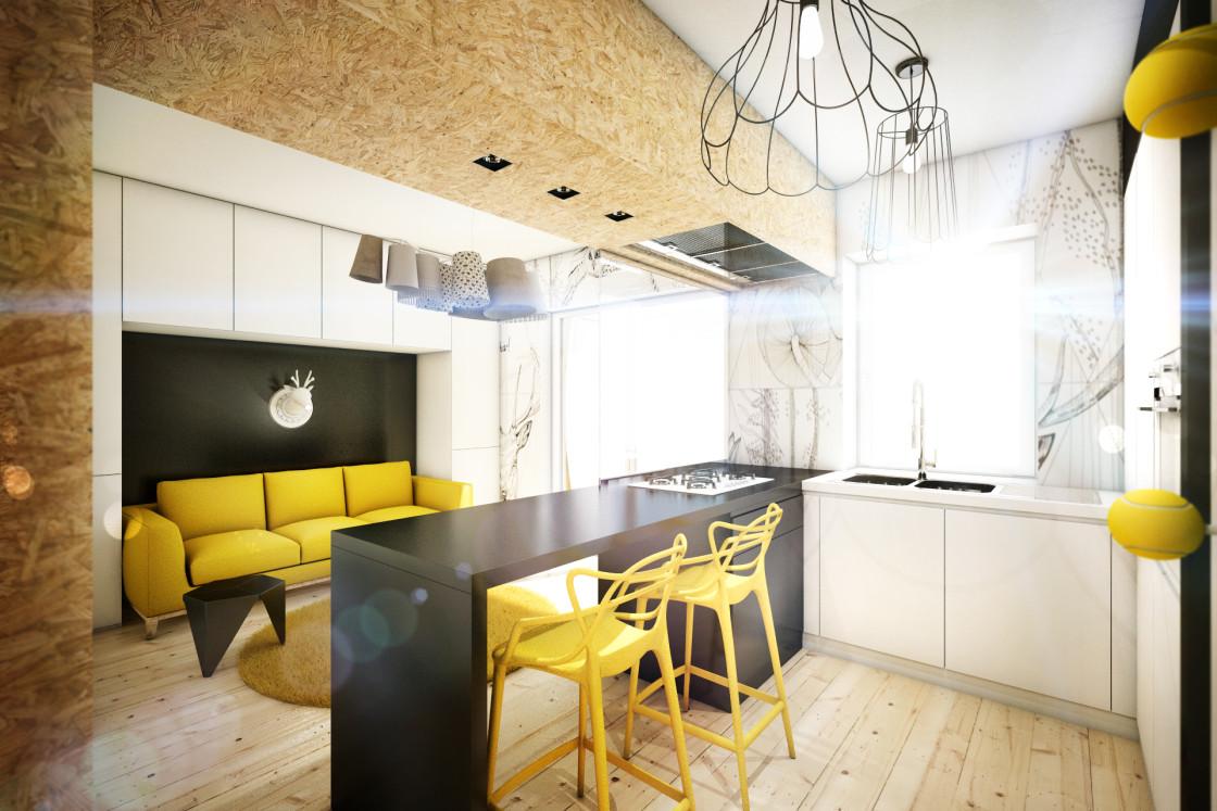 Сочетание жёлтого в интерьере маленькой квартиры