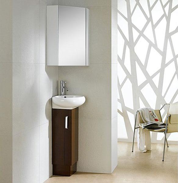 Минималистичный туалетный столик в дизайне маленькой ванной