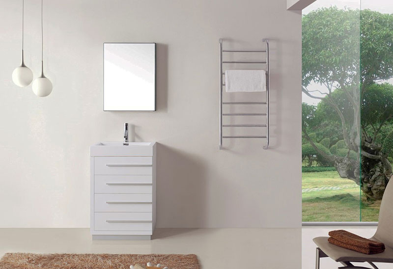 Туалетный столик Virtu USA's Bailey в дизайне маленькой ванной
