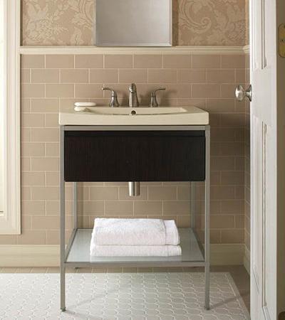 Туалетный столик Kohler's Persuade в дизайне маленькой ванной