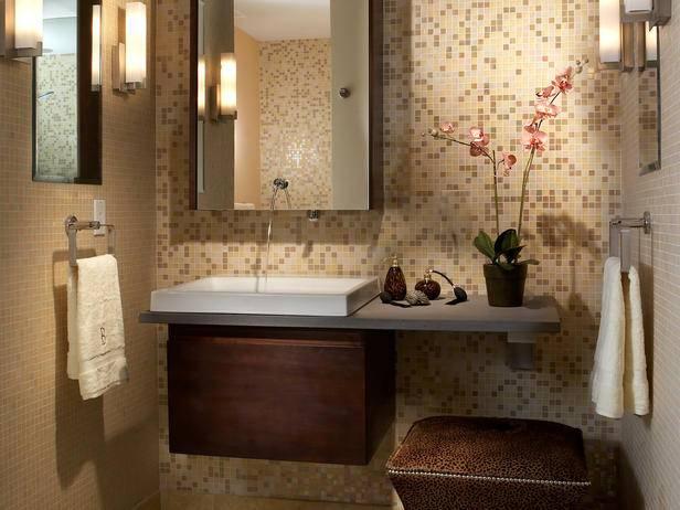 Дизайн красивой маленькой ванной