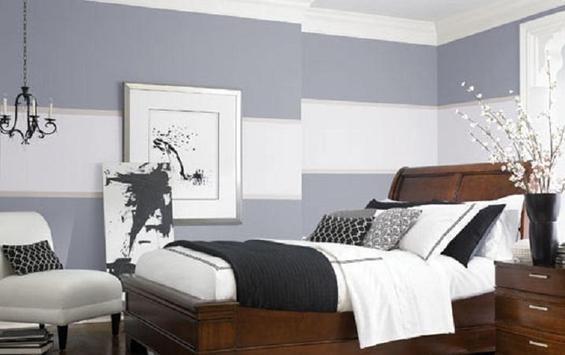 Спальня в холодных тонах