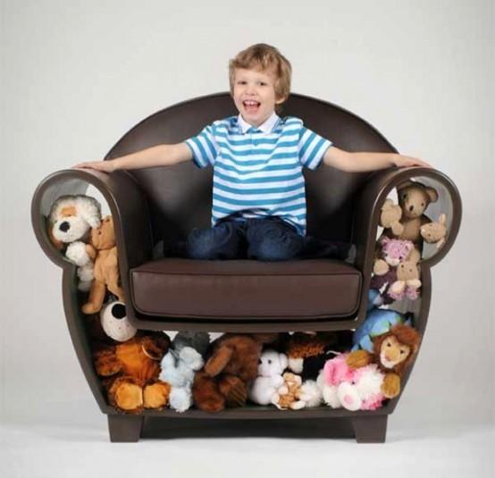 Кресло с нишей для игрушек