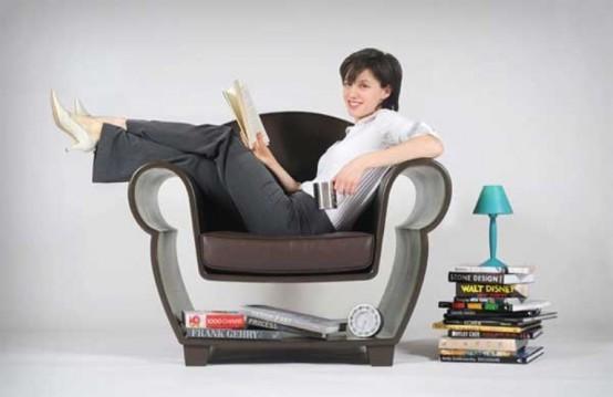 Кресло с нишей под сиденьем