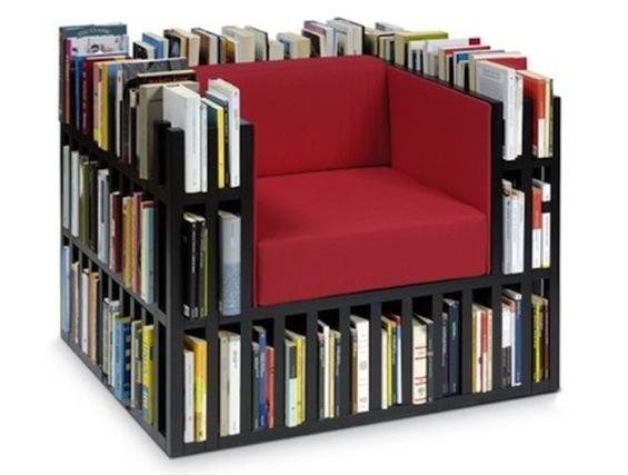 Кресло с ячейками для книг