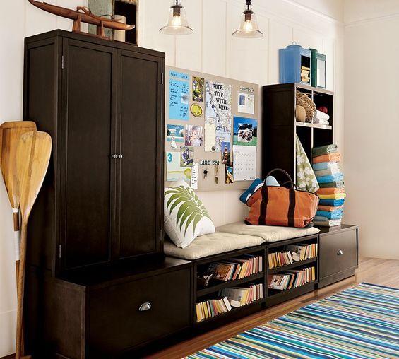 Шкаф с местом для отдыха