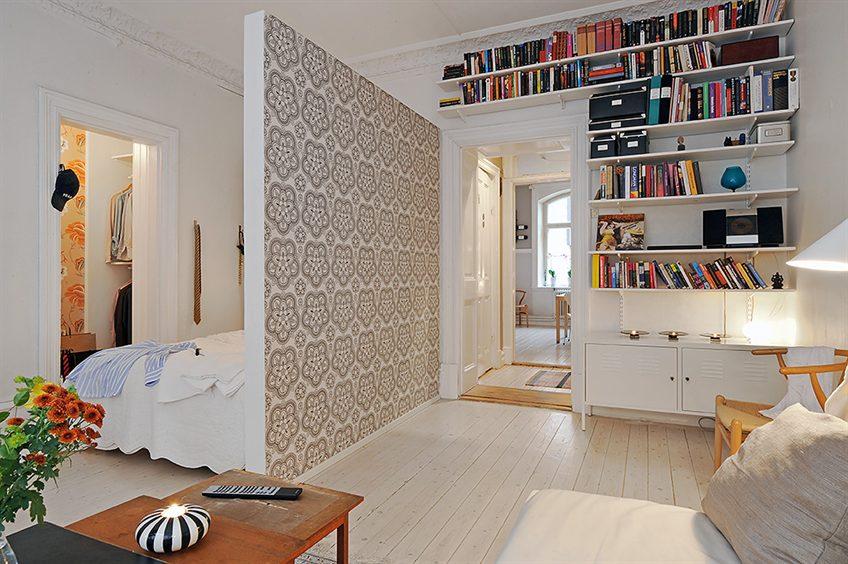 Перегородка в интерьере квартиры-студии