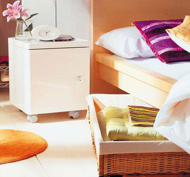 Корзины для хранения под кроватью