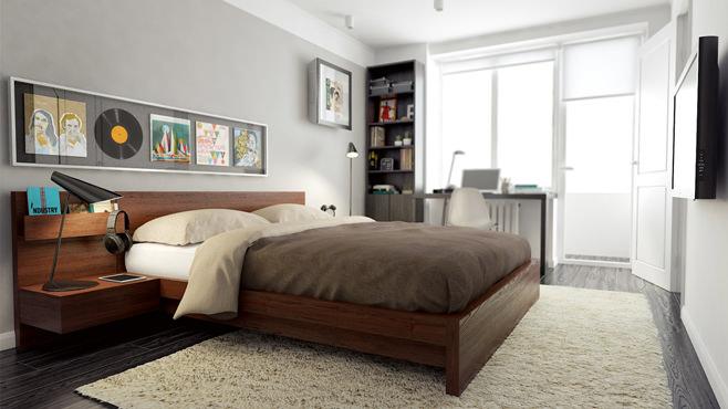 Спальня двухкомнатной квартиры в Москве