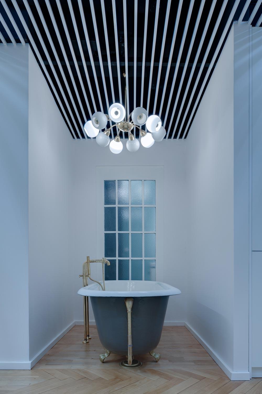 Cовременный дизайн небольшой квартиры  - ванная комната