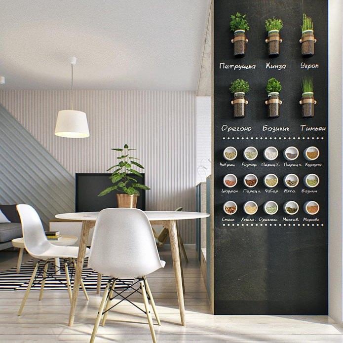 Система хранения специй в маленькой квартире-студии в Москве