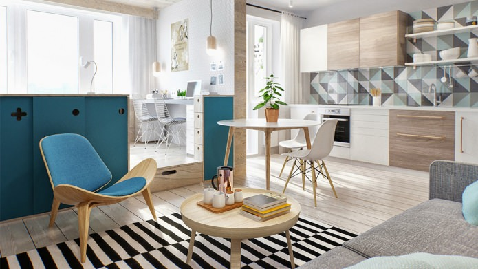Интерьер маленькой квартиры-студии в Москве