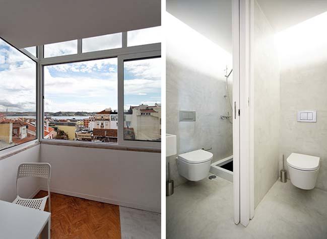 Кухня и ванная в маленькой квартире