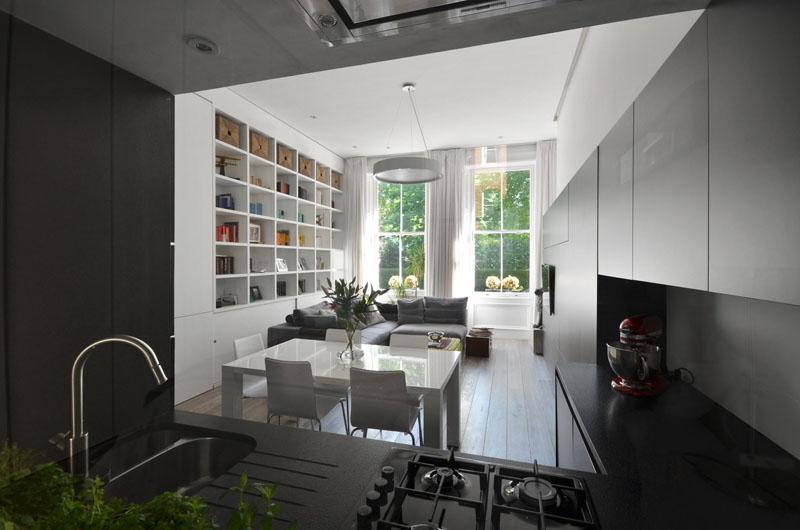 Современный интерьер небольшой квартиры в Лондоне