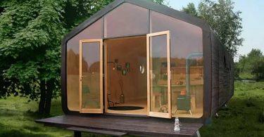Проект маленького жилого дома из картона