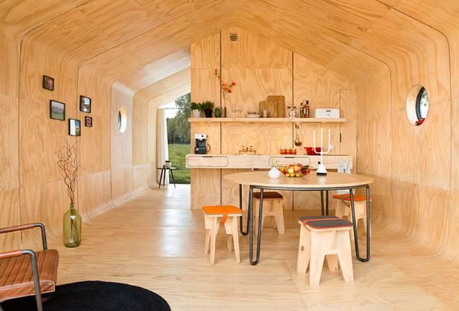Проект маленького жилого дома: обеденная зона