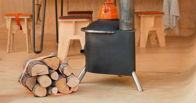 Проект маленького жилого дома: дровяная печь
