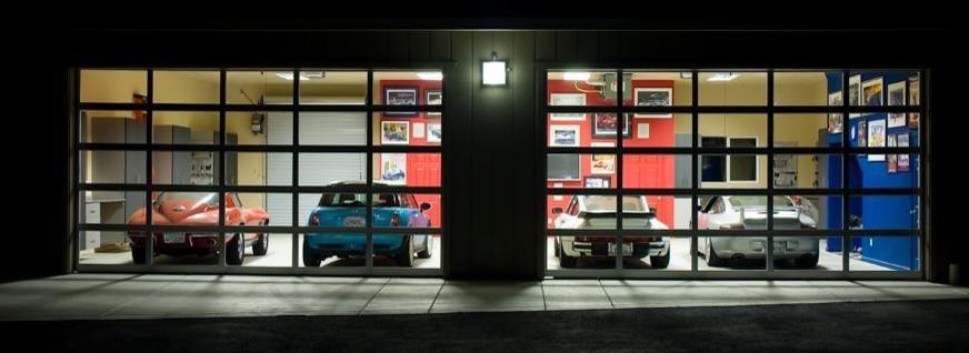 Стеклянные гаражные ворота