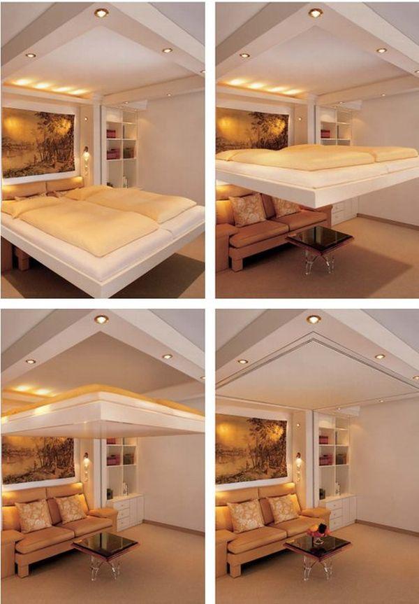 Кровать, которая крепится под потолком