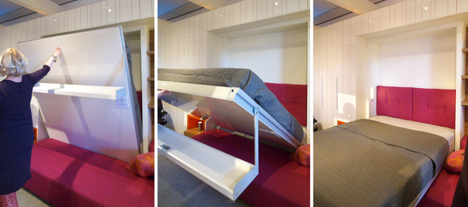 Раскладная кровать Murphy в интерьере