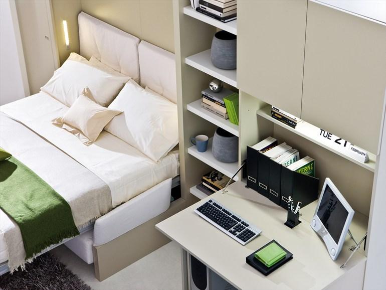 Раскладная кровать Murphy в кабинете