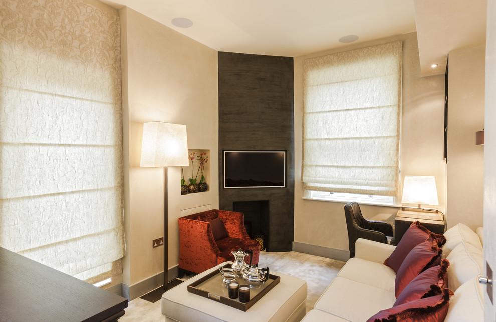 Интерьер гостиной стильной малогабаритной квартиры