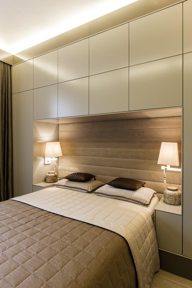 Спальня стильной малогабаритной квартиры