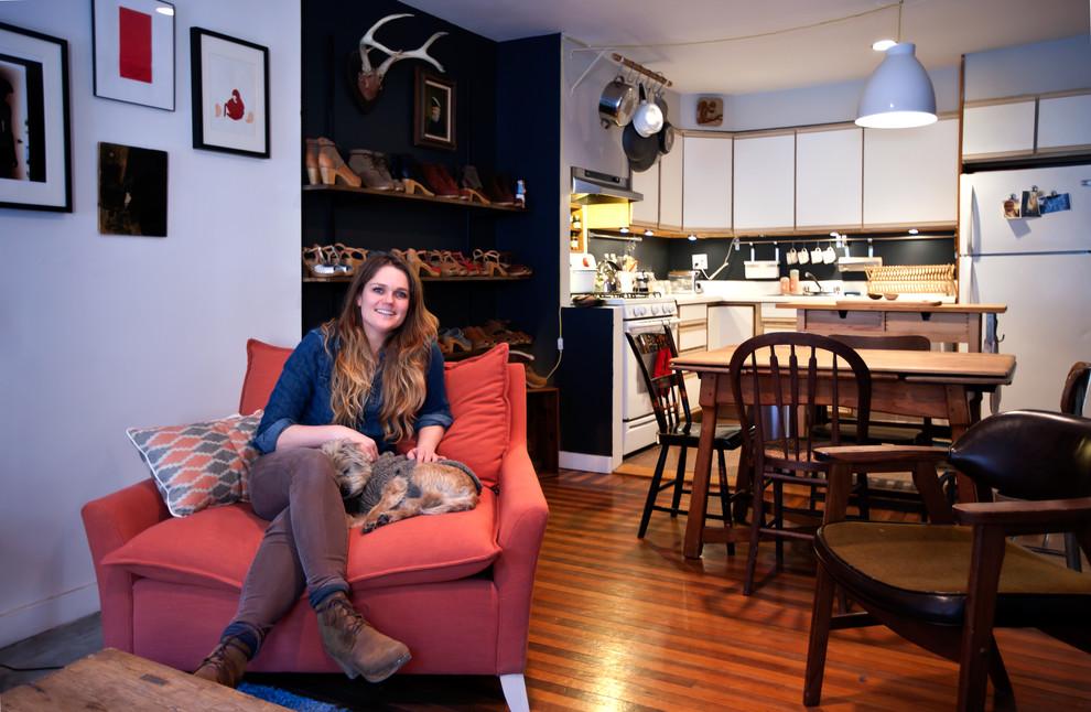 Маленькая гостиная с кухней