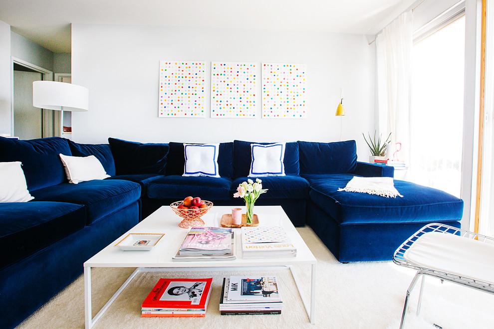 П-образный диван в гостиной