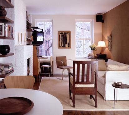 Элегантная гостиная в светлых тонах