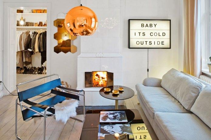 Интерьер квартиры-студии в скандинавском стиле