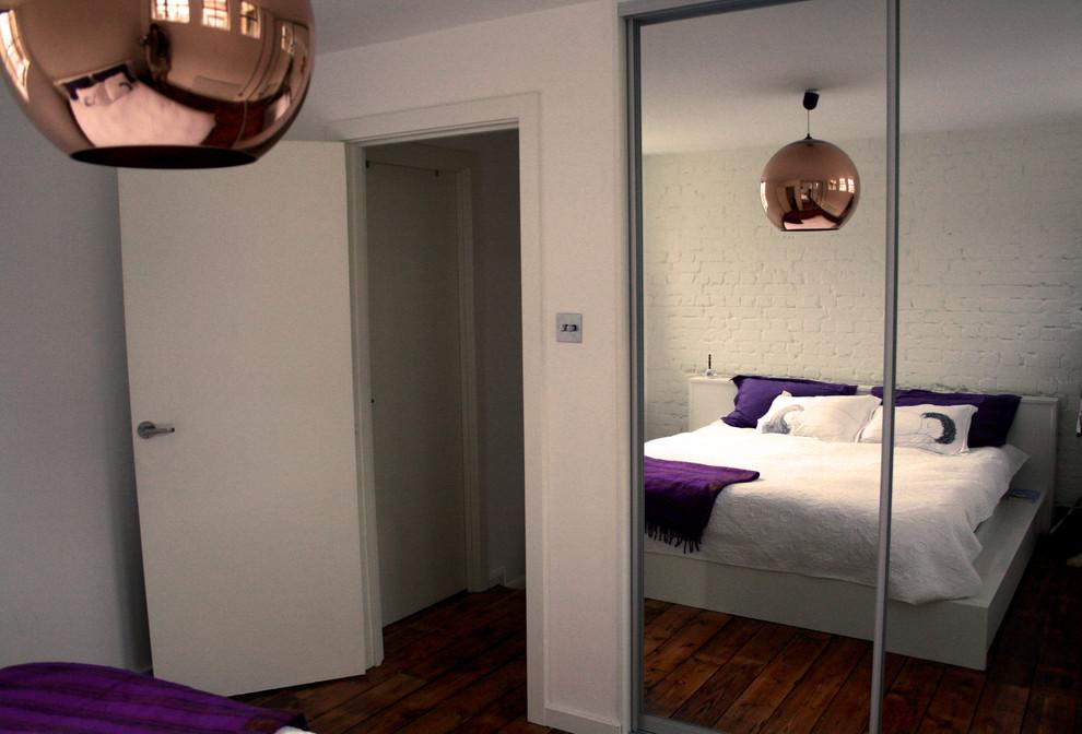 Спальня маленькой квартиры в Лондоне