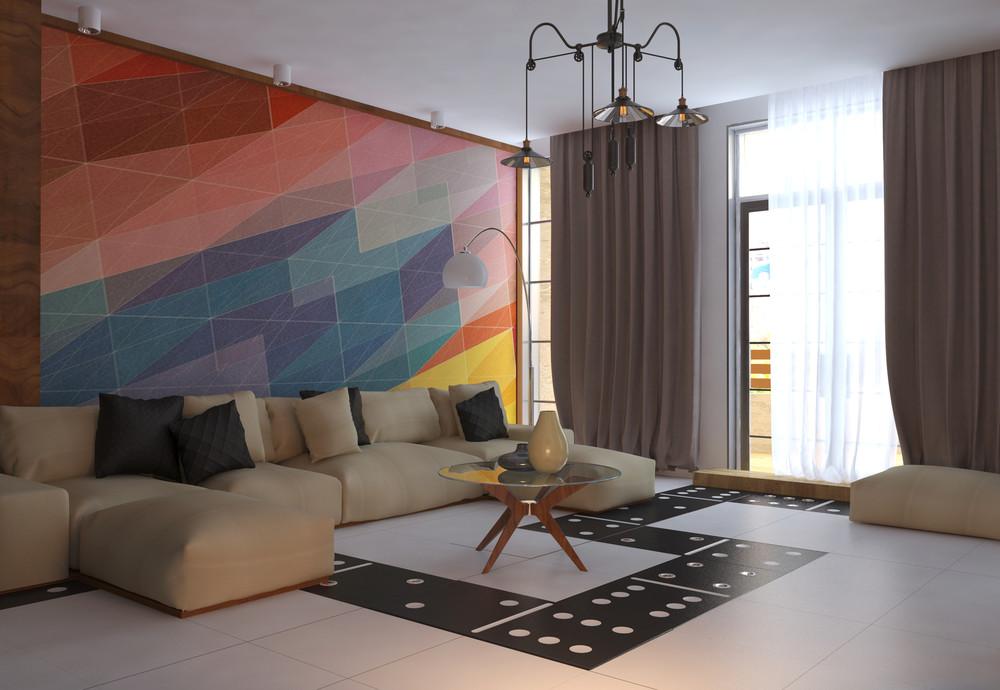 Интерьер маленькой квартиры в ярких тонах