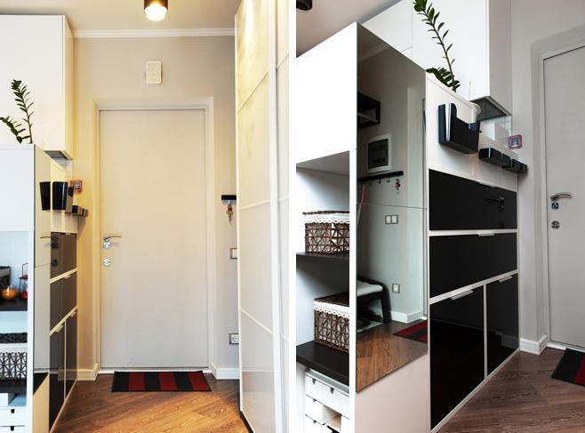 Прихожая стильной квартиры-студии